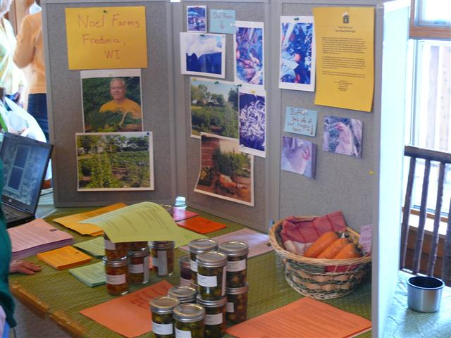 Noel Farms display at the Local Farmer Open House March 17 2012