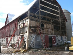 Spring 2014 Noel Farms Barn Repairs
